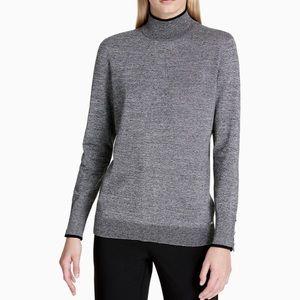 Calvin Klein Grey Mock Neck Sweater